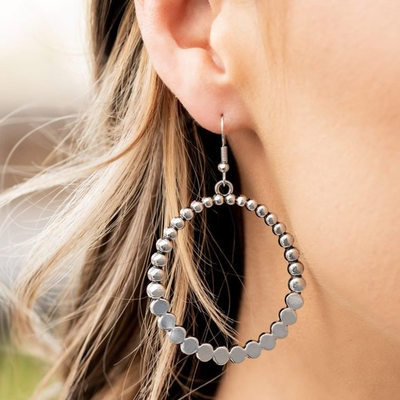 Rustic Society Silver Earring